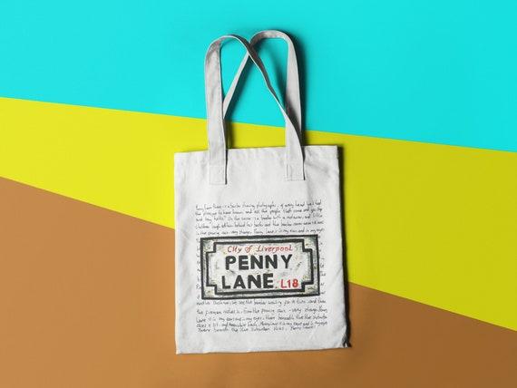 Penny Lane Tote Bag - Eco-friendly Reusable Shopping Tote Bag - Grocery Bag - Tote Bag - Liverpool Bag - Classic Rock Bag - Beatles Bag
