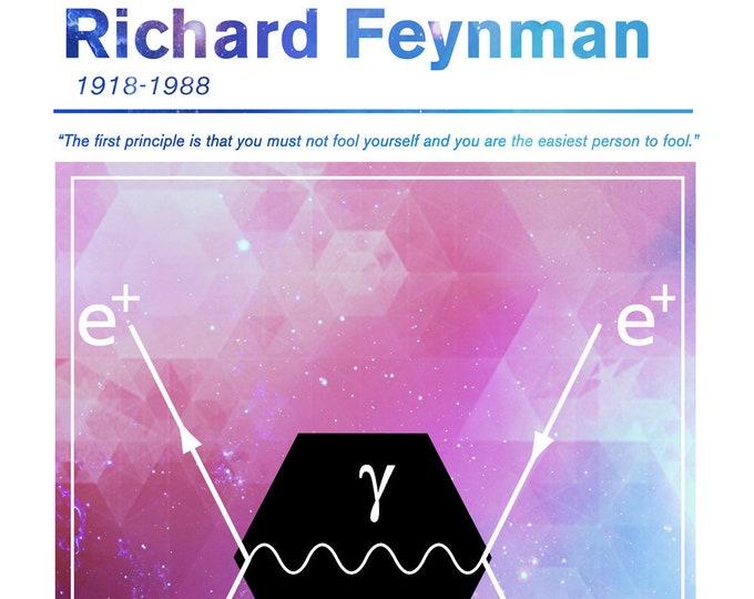 Richard Feynman Scientist Poster