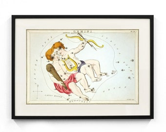 Gemini Constellation (Urania's Mirror) Wall Art