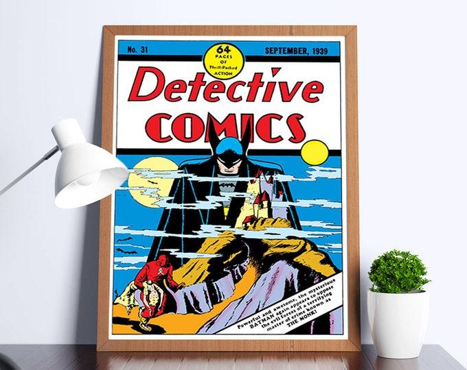 Detective Comics #31 Vintage Comic Art Poster