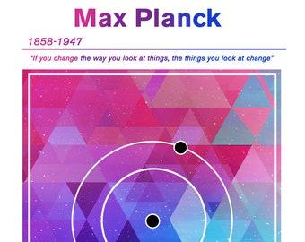 Max Planck Minimalist concept Poster