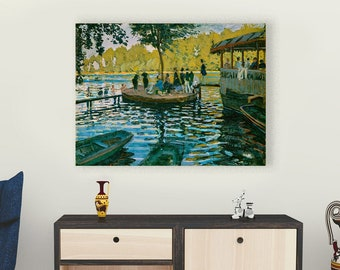 Bain à la Grenouillère (1869) by Claude Monet Masterpiece Reproduction Printed in Refined Aluminum Printed in Refined Aluminum
