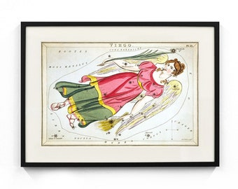 Virgo Constellation (Urania's Mirror) Wall Art
