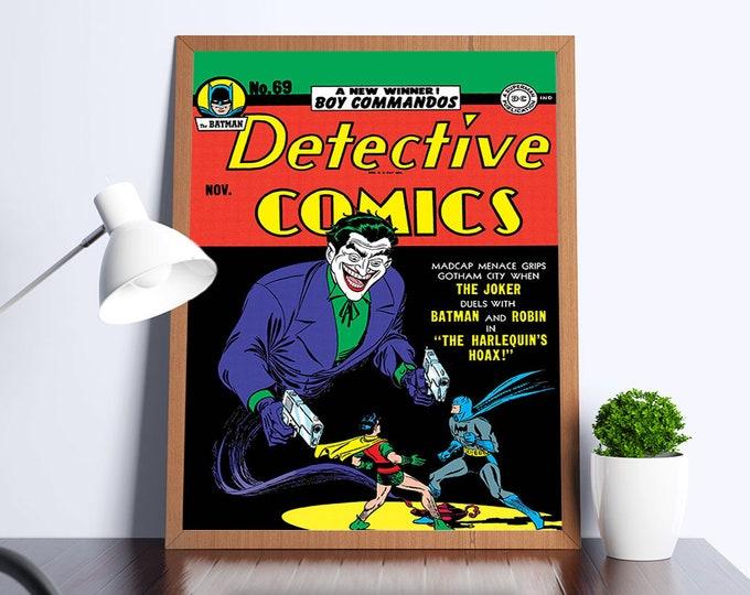 Detective Comics #69 Vintage Comic Art Poster