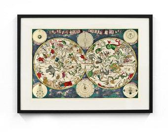 Celestial Map (1670) by Frederik de Wit Wall Art