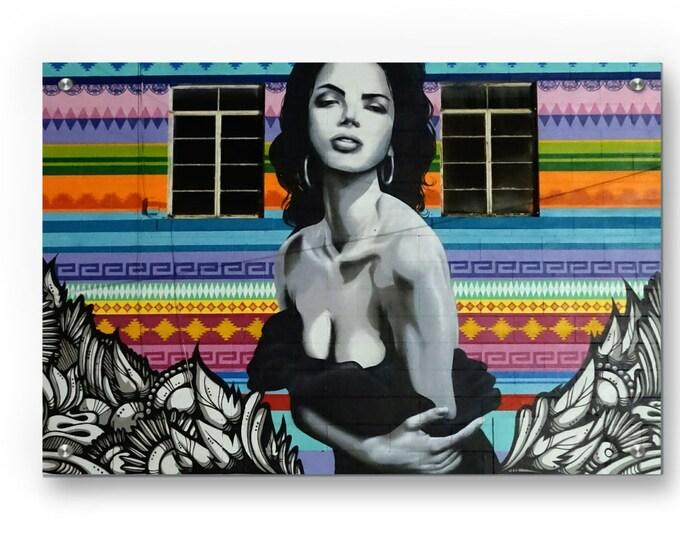 Latin Neighborhood Mural Graffiti Wall Art
