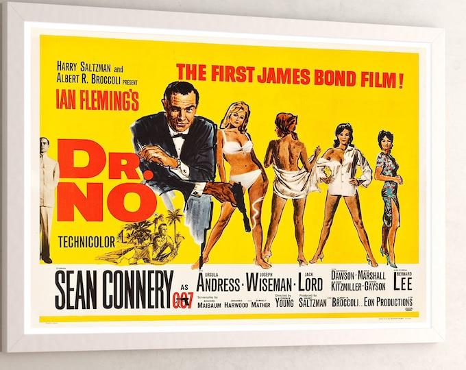 James Bond Dr No Movie Poster (1962)