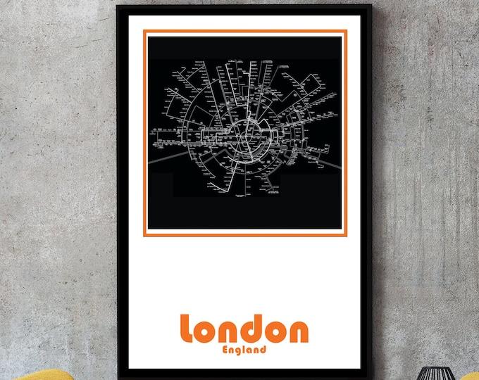 London Subway Map Wall Art Decor