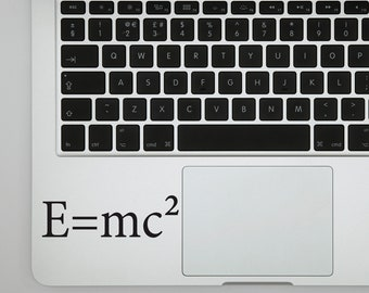 Einstein's Mass Energy Equivalence equation Sticker  decal for wall computer or bumper sticker