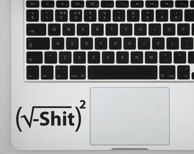 Shit just got real Math decal sticker for laptops, Bumper sticker or Wall decor
