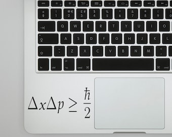 Heisenberg Uncertainty Principle Decal for wall computer or bumper sticker