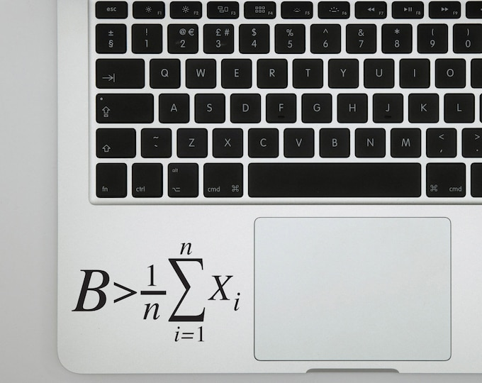 Be greater than the average Math decal sticker for laptops, Bumper sticker or Wall decor