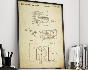 Toilet Patent Poster Wall decor