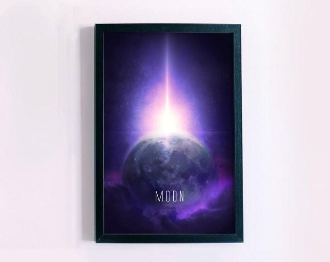 Moon Wall Decor Poster