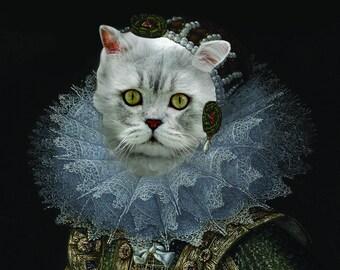 "Renaissance Pet Portrait - Villandrando's ""Spanish Noblewoman"" on Refined Aluminum"