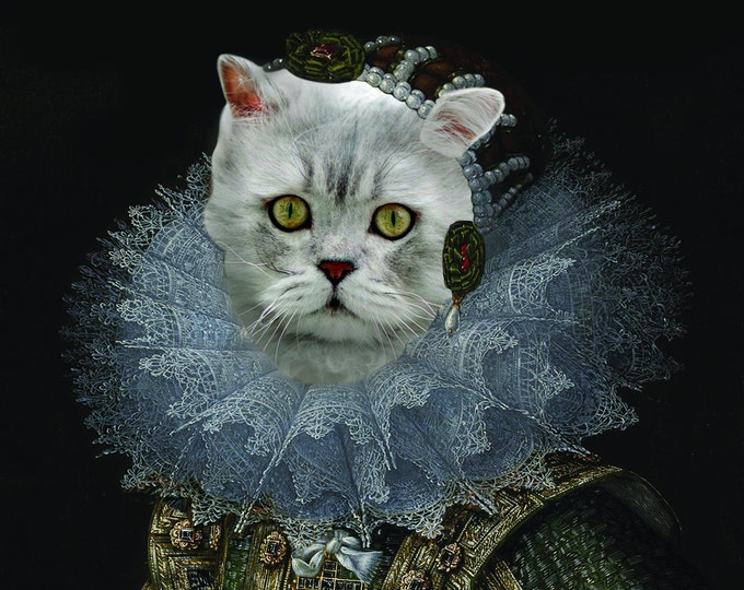 "Renaissance Pet Portrait - Villandrando's ""Spanish Noblewoman"" on Refined Aluminum"