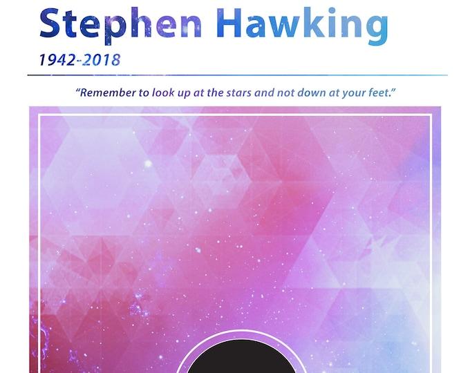 Stephen Hawking Scientist Poster