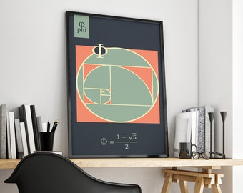Golden Ratio (Phi) Math Poster