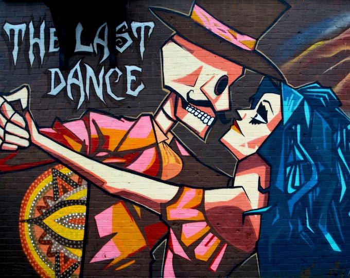 The Last Dance Mural Skeleton Graffiti Wall Art