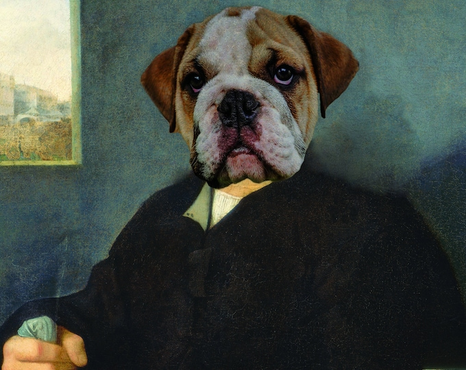 "Renaissance Pet Portrait - Titian's ""Portrait of a Venetian Gentleman"" on Refined Aluminum"