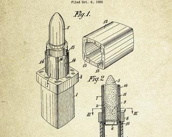 Lipstick Patent Poster (1952, P. Suinat)
