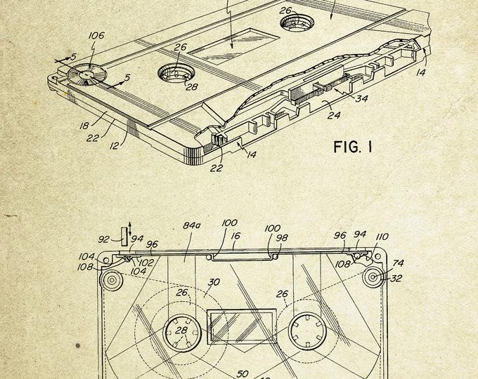 Cassette Patent Poster (1974, Louie W. Watkins Jr.)