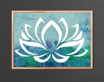 Sacred Lotus flower Home Decor Poster
