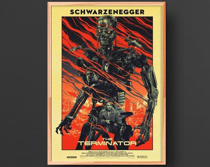 The Terminator (1984) Vintage Movie Poster