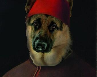 """Renaissance Pet Portrait - Antonello da Messina's """"Portrait of a Man"""" on Refined Aluminum"""