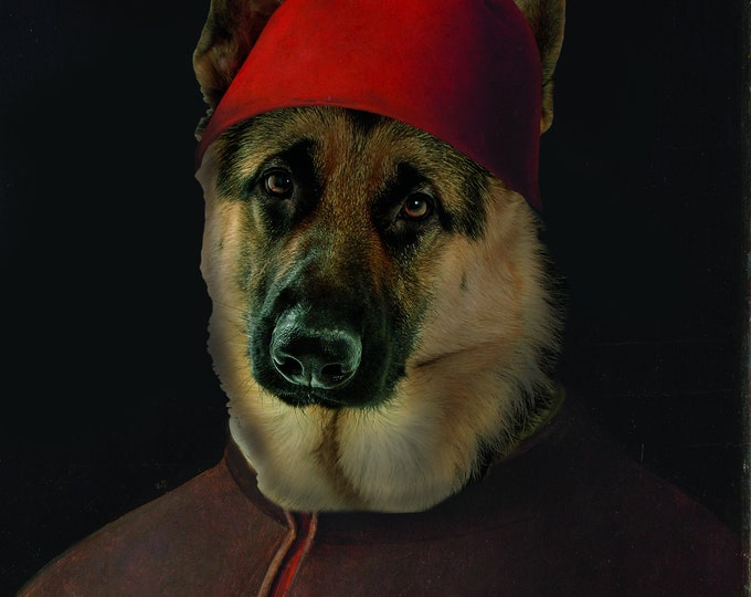 "Renaissance Pet Portrait - Antonello da Messina's ""Portrait of a Man"" on Refined Aluminum"