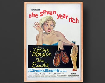 The Seven Year Itch Movie Poster (1955)