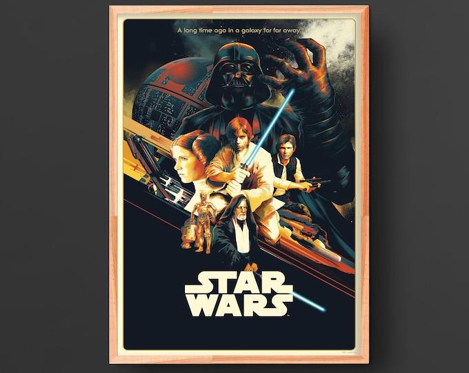 Star Wars New Hope Episode IV (1977) Vintage Movie Poster