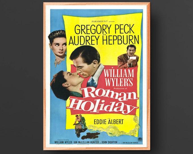 Roman Holiday Movie Poster (1953)