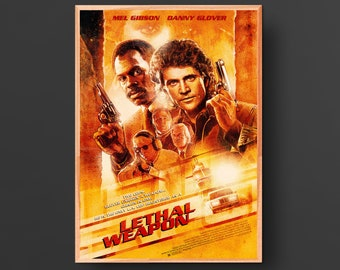 Lethal Weapon Movie Poster (1987)