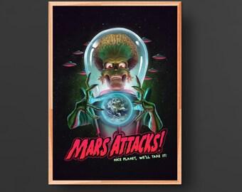 Mars Attacks Movie Poster (1996)