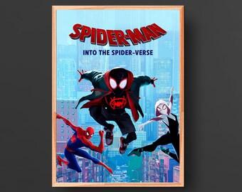 Spider-Man: Into the Spider-Verse Movie Poster (2018)
