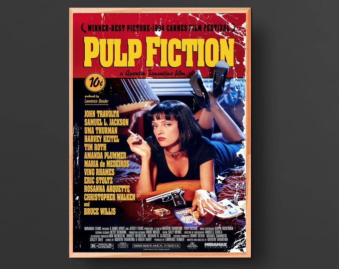 Pulp Fiction Movie Poster II (1994)