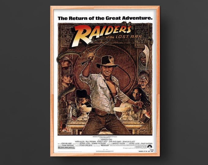 Raider's of the Lost Ark (1981) Vintage Movie Poster