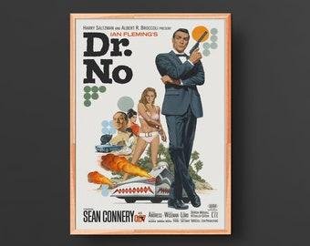 Dr. No-James Bond (1962) Vintage Movie Poster #2
