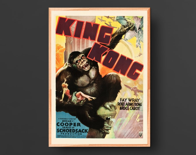 King Kong Alternate Movie Poster (1933)