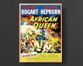 The African Queen Movie Poster (1951, P. Suinat)