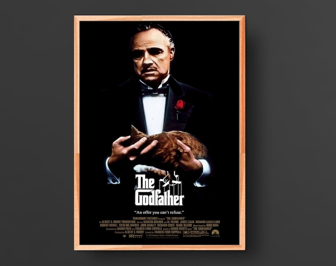 The Godfather (1972) Vintage Movie Poster