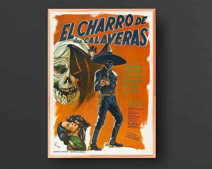 El Charro de las Calaveras Vintage Movie Poster (1965)