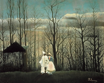 Carnival Evening (1883) Henri Rousseau Masterpiece Reproduction Printed in Refined Aluminum