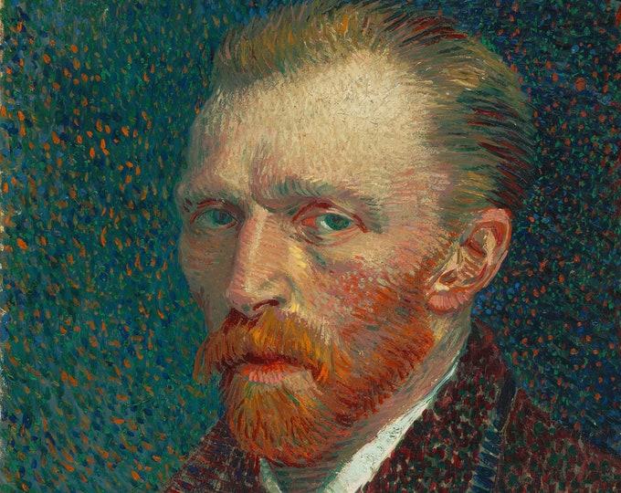 Vincent Van Gogh Self Portrait in Paris (1890) by Vincent Van Gogh Masterpiece Reproduction Printed in Refined Aluminum