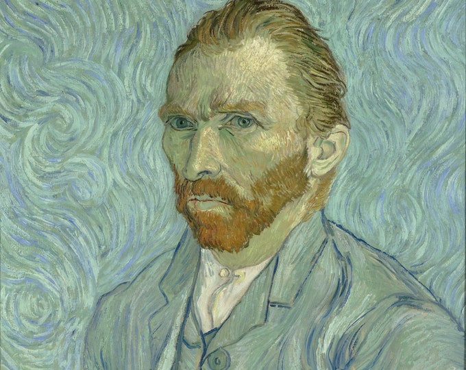 Van Gogh Self Protrait at Musée d'Orsay Masterpiece Reproduction Printed in Refined Aluminum