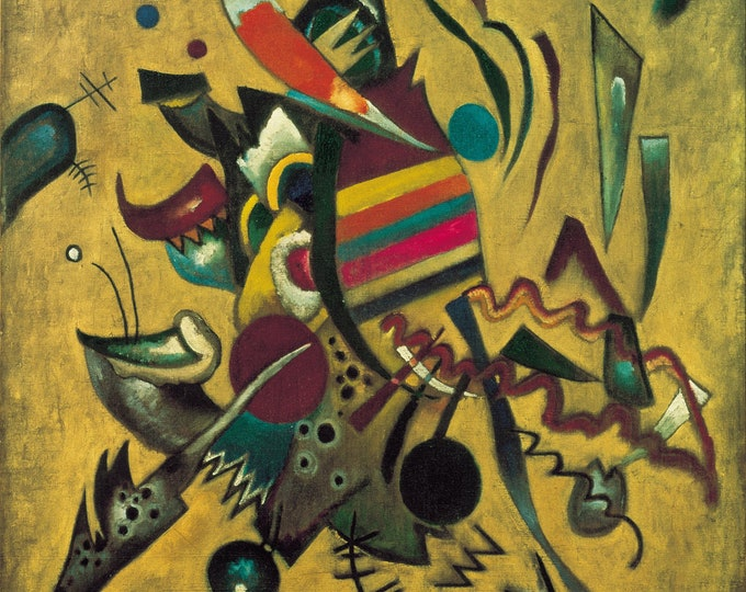 Points  (1930) by Wassily Kandinsky Masterpiece Reproduction Printed in Refined Aluminum