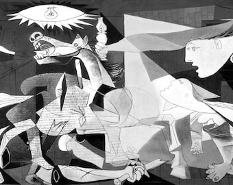 Guernica  (1937) by Pablo Picasso Masterpiece Reproduction Printed in Refined Aluminum