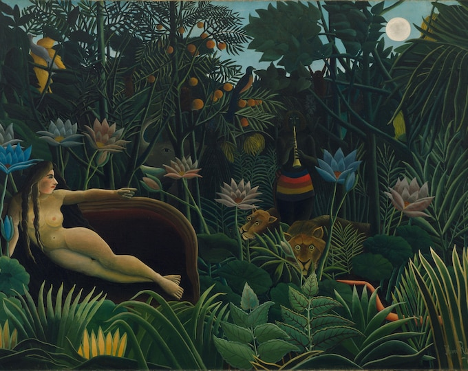 The Dream (1910) Henri Rousseau Masterpiece Reproduction Printed in Refined Aluminum