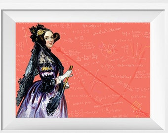 Ada Lovelace Scientist Portrait Poster